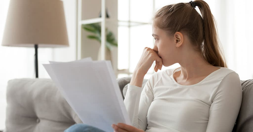 Woman Concerned About her Finances